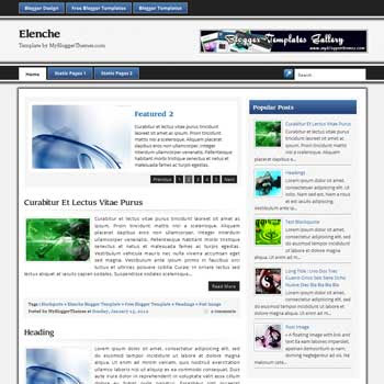 Elenche blogger template. magazine style blogger template