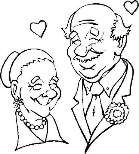Dibujos de ancianas para colorear - Imagui