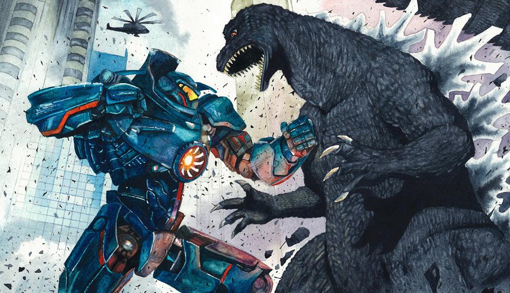Arte fanmade Guillermo del Toro Godzilla vs. Pacific Rim