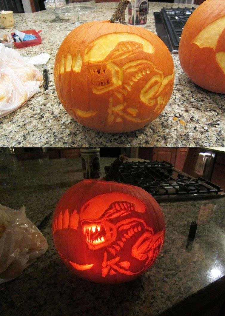 Predator Halloween Jack o Lantern