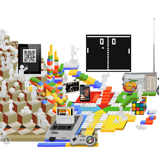 construir realidad, ilustracion, pong, narangito, parchis, legos, Escher,playmobil, dibujo