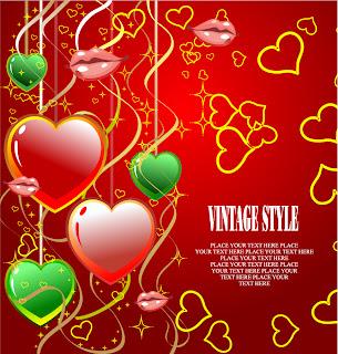 バレンタインデーの美しい背景 3 beautiful valentine day vector elements イラスト素材3