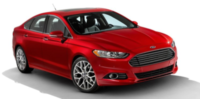 2013 Ford Fusion Red Front angle