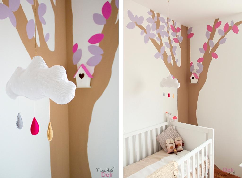 Un mural para una habitaciu00f3n infantil. Decoraciu00f3n para niu00f1os