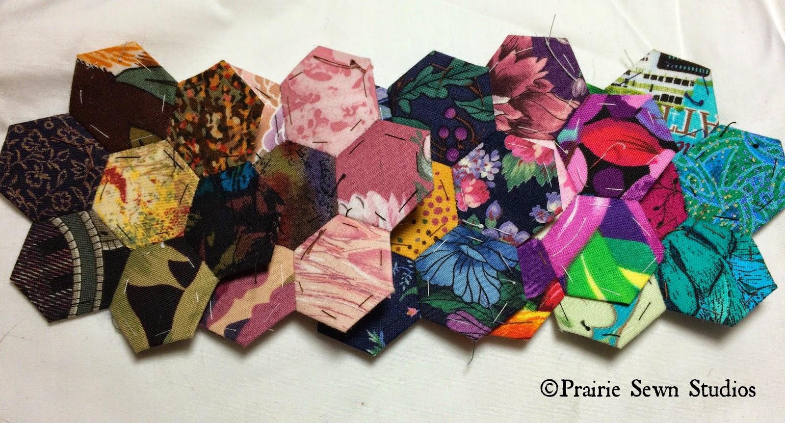 Prairie Sewn Studios WIP Grandmother's Flower Garden