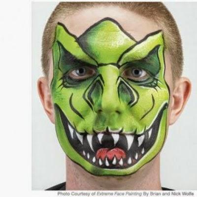 Maquillaje dinosaurio