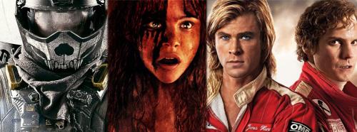 Edge of Tomorrow, Carrie, Rush Posters