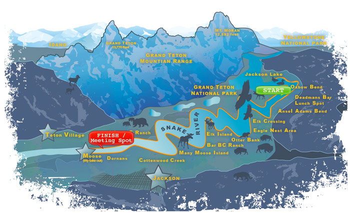 albertsons gorge rafting map of grand