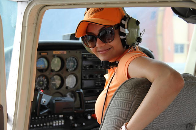 Kajal Agarwal turns air pilot
