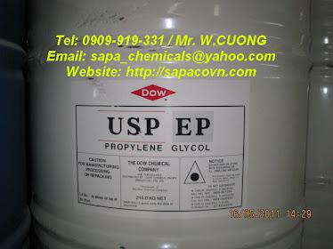 Propylene glycol USP/EP - tiêu chuẩn dược