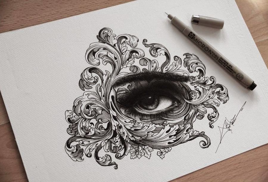 simply creative drawings created with thousands of tiny