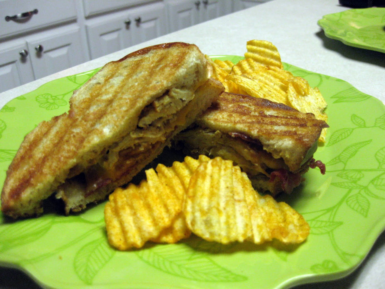 The Hutchins Family Recipes: Chicken Bacon Ranch Panini