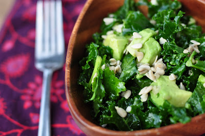 The Whole Life Nutrition Kitchen: Raw Kale Avocado Salad