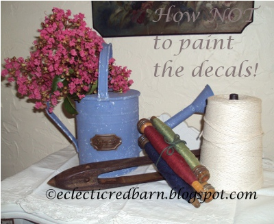 Eclectic Red Barn: How NOT to paint decals