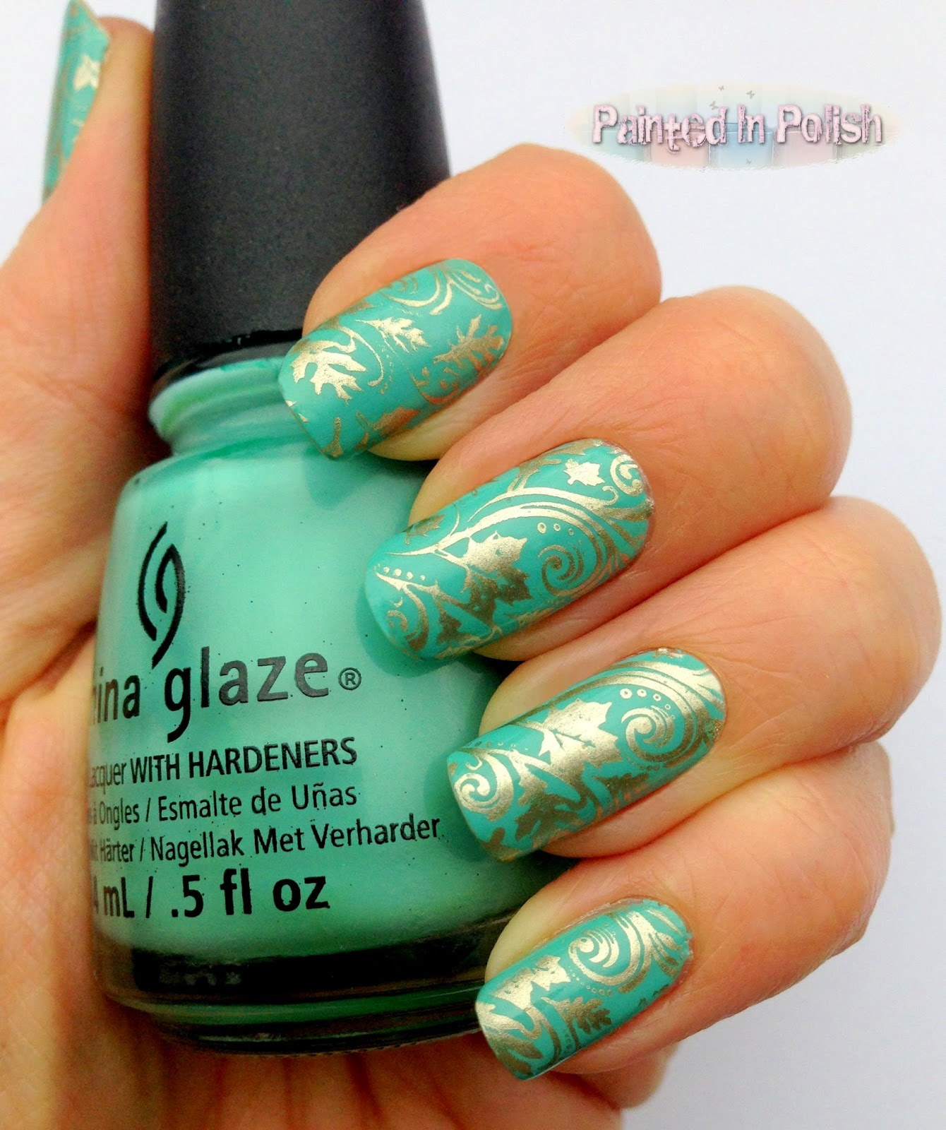 Painted In Polish: Aquadelic Golden Leaves