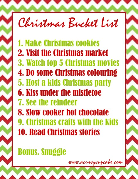 what are your must do plans for the holidays do you have a christmas bucket list let me know what youd add to the list in the comments below - What To Do On Christmas