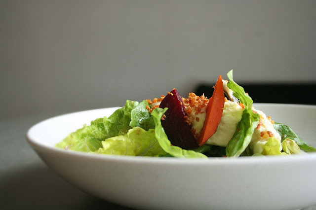 Alugbati and Kesong Puti Salad