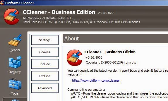 CCleaner Professional + Business Edition full version download