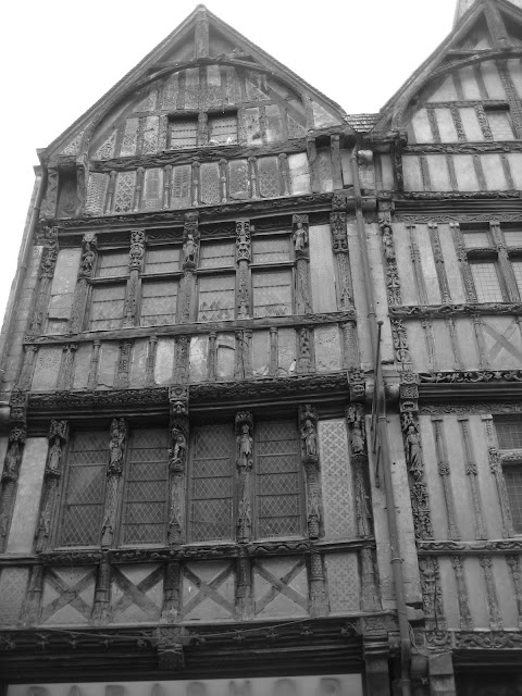 Really old post and beam buildings in Caen, France.
