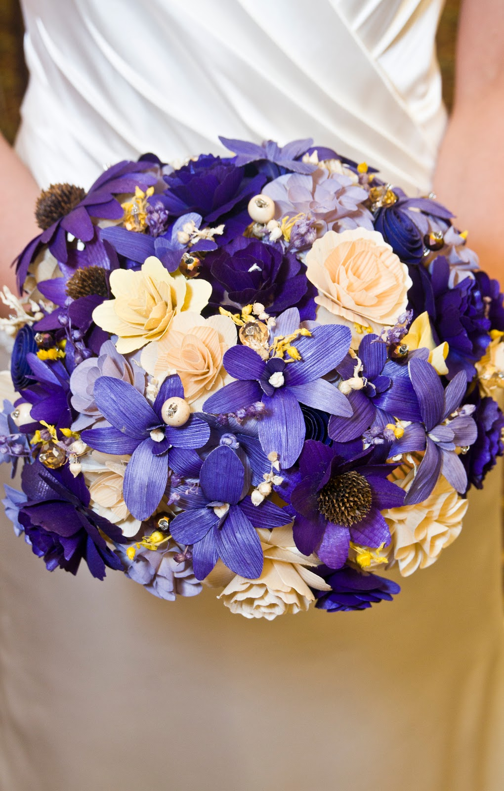 Purple butter yellow and ivory bouquet made of wood and corn husk purple butter yellow and ivory bouquet made of wood and corn husk flowers mightylinksfo