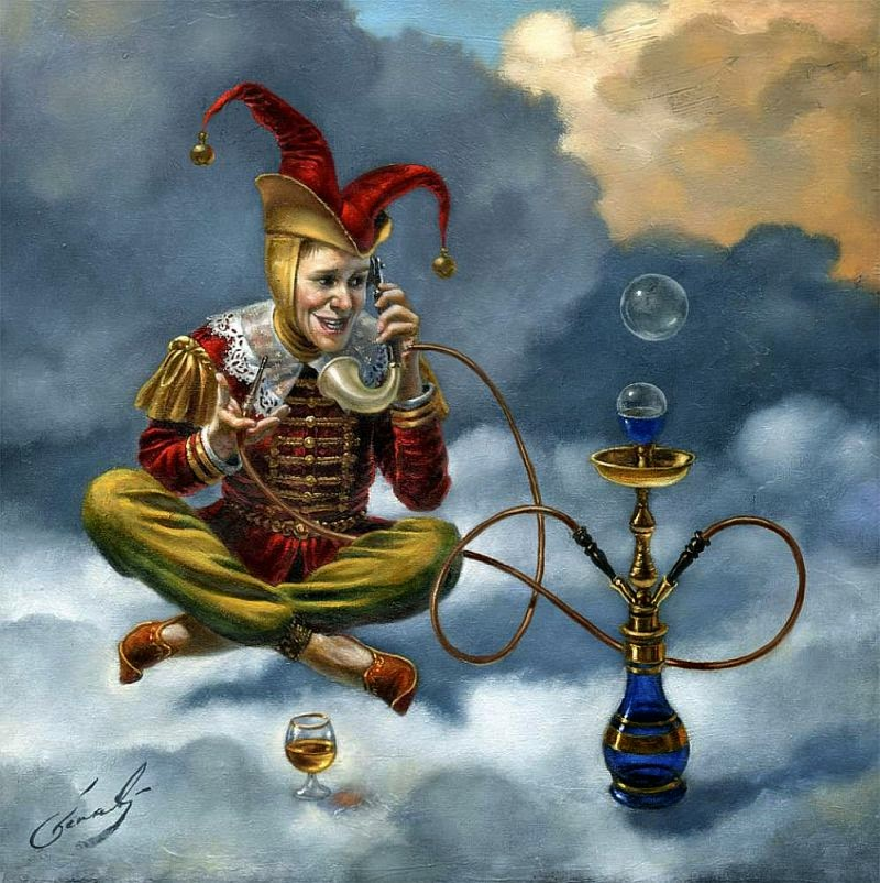 10-Michael-Cheval-Local-Call-Surreal-Absurdist-Paintings-www-designstack-co