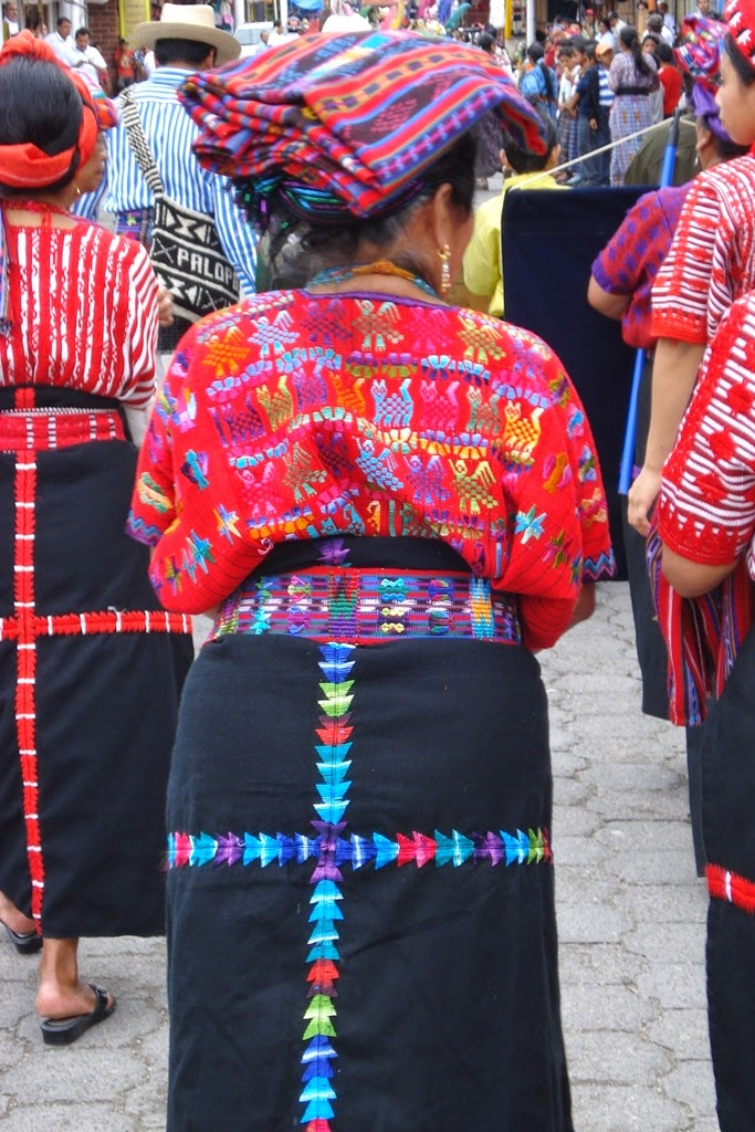 Mayan woman of Guatemala wearing traditional skirt