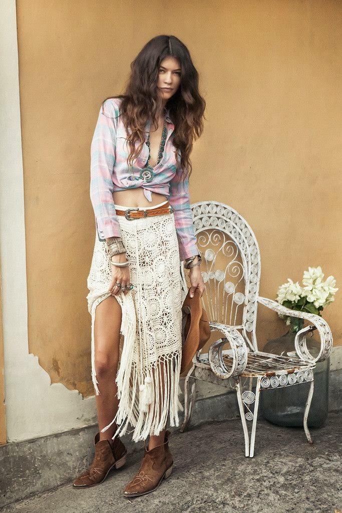 Modèle de jupe hippie