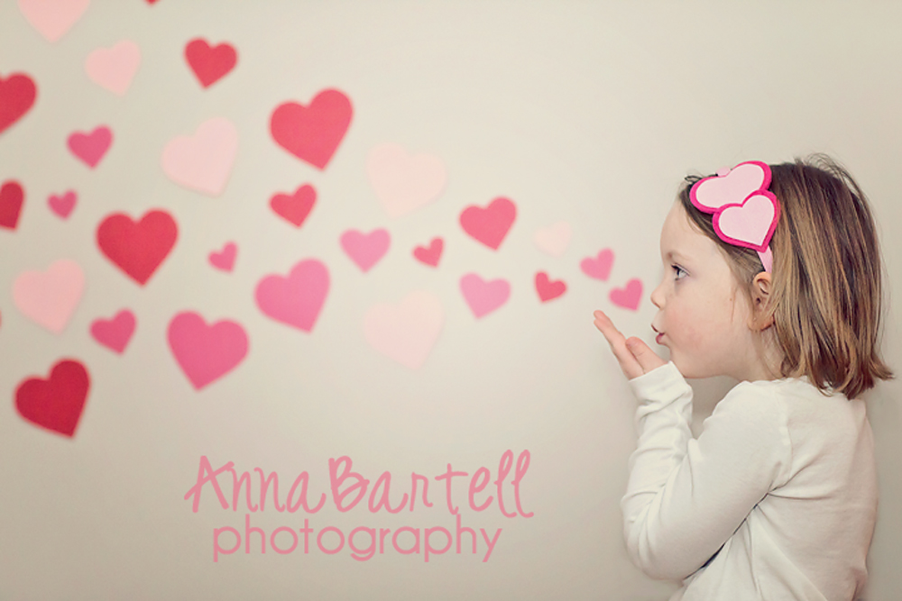 the mini sessions include a choice of valentines for your child to hand out to friends or family