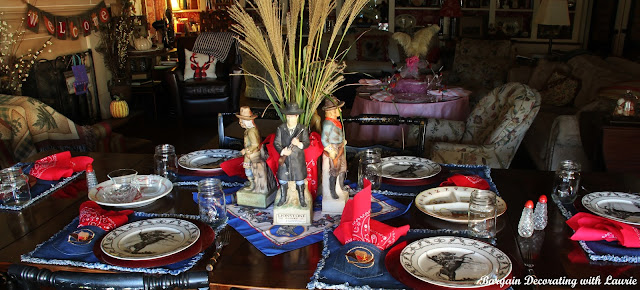 Cowboy Table-Bargain Decorating with Laurie