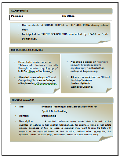 updated - International Resume Format