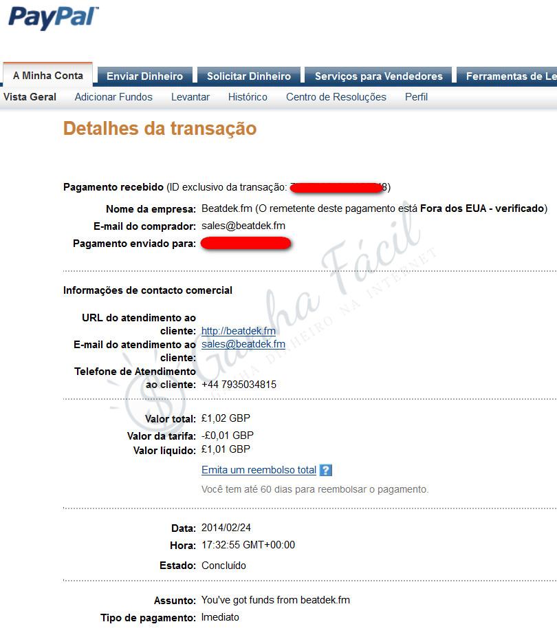 beatdek beatdekfm comprovativo dinheiro libra pagamento paypal ganha ganhar