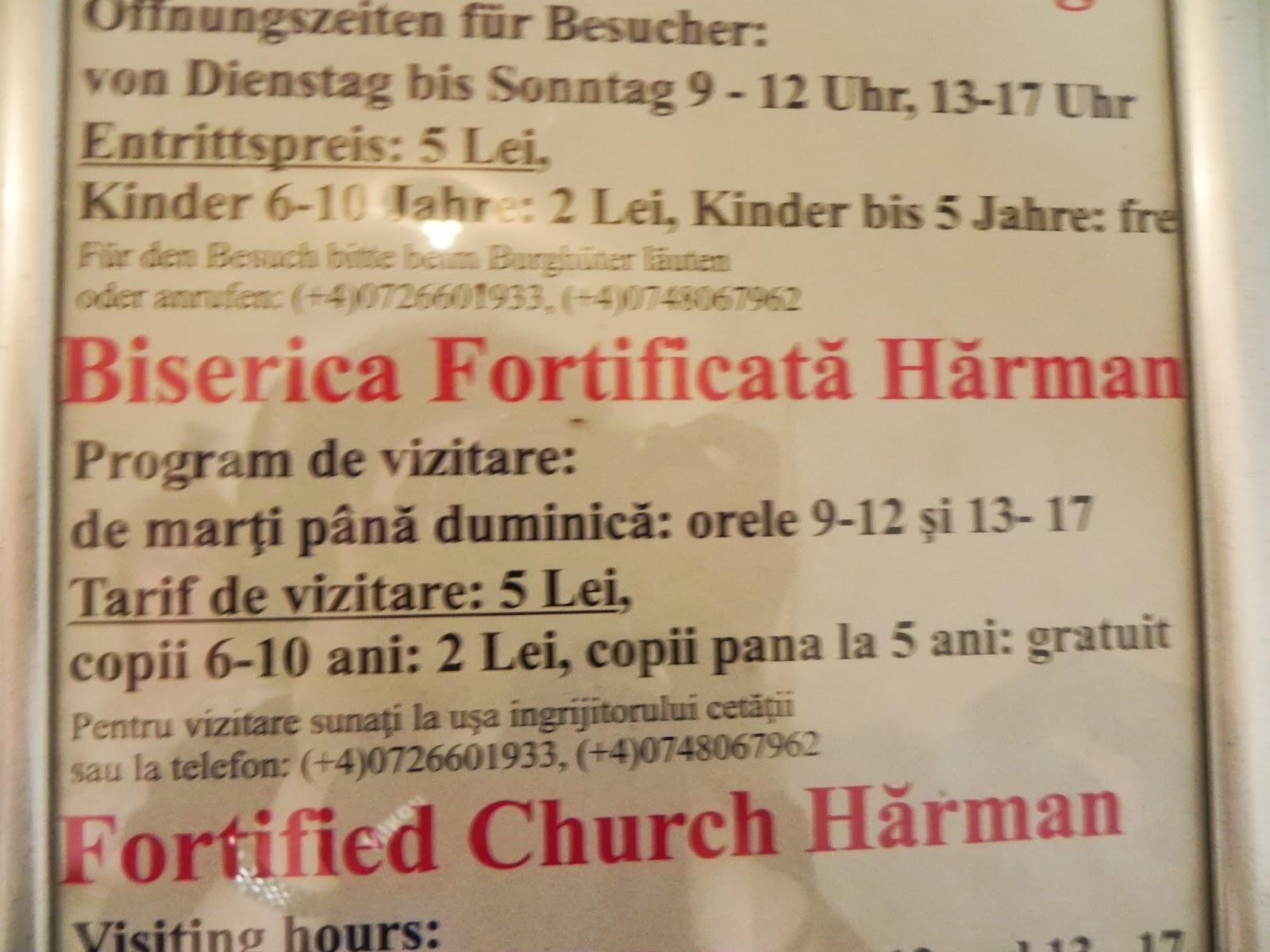 Programul bisericii din Harman