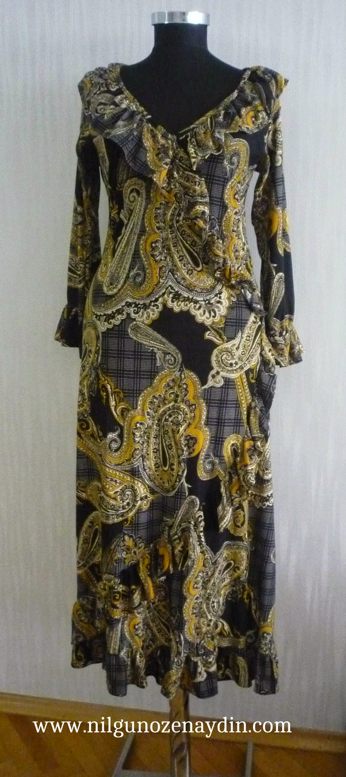 nilgunozenaydin.com-fırfırlı elbise-fırfırlı elbise dikimi