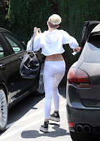 Miley Cyrus ass in white spandex