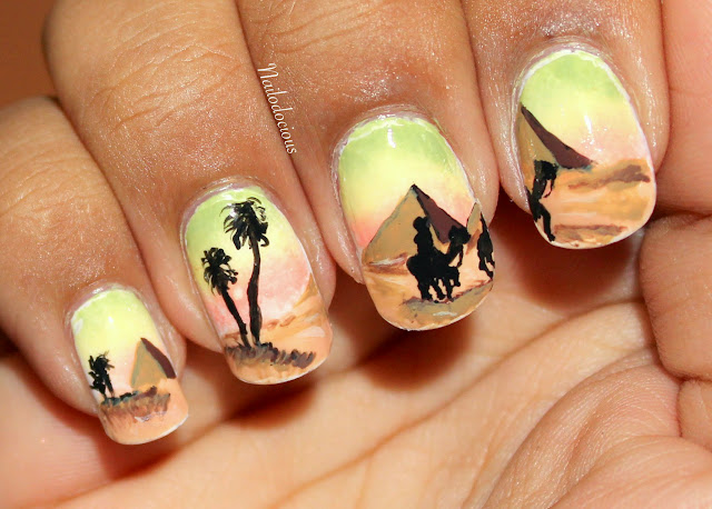 egypt nails, egyptian nails, desert nails