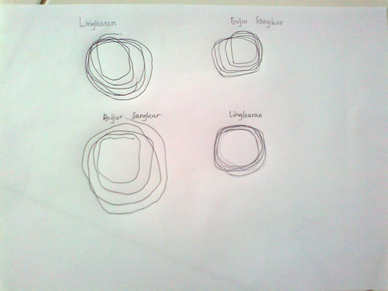 Gambar lingkaran dan bujur sangkar,,,