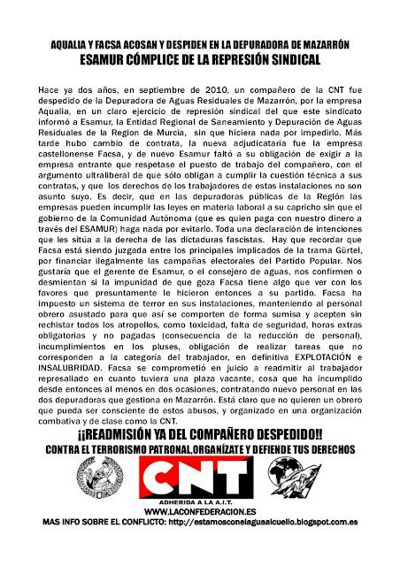 huelga mazarron: