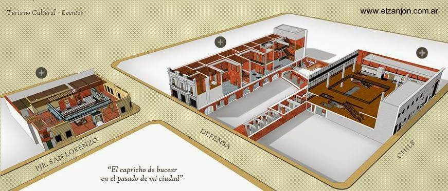 Dibujo del renderizado infografía Zanjón de Granados