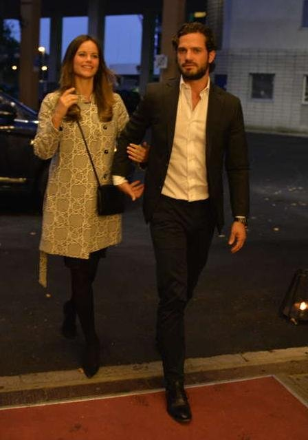 Prince Carl Philip of Sweden and Princess Sofia Hellqvist of Sweden attended a charity concert in Stockholm