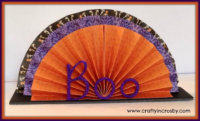 Halloween, paper folded centerpiece, www.craftyincrosby.com