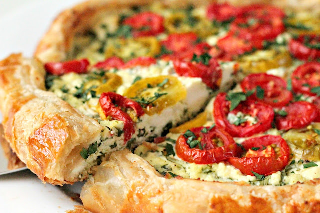 Milk and Honey: Ricotta and Tomato Tart