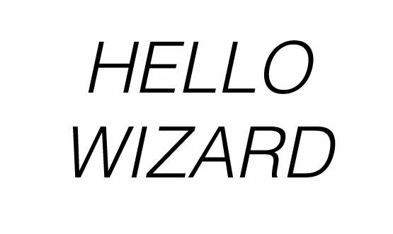 Hello Wizard