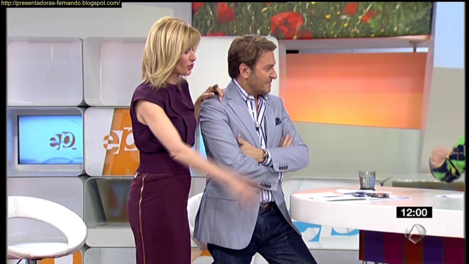 Presentadoras fernando susana griso luciendo piernas espejo publico 11 4 2012 - Espejo publico hoy ...