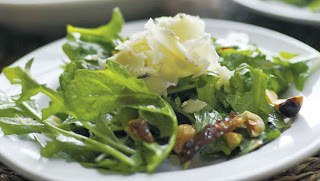 Wisconsin Cheddar-Blue Salad with Hazelnuts and Dates