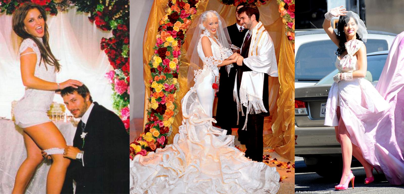 Boda de Britney Spears, boda de Christina Aguilera y boda de Kate Perry