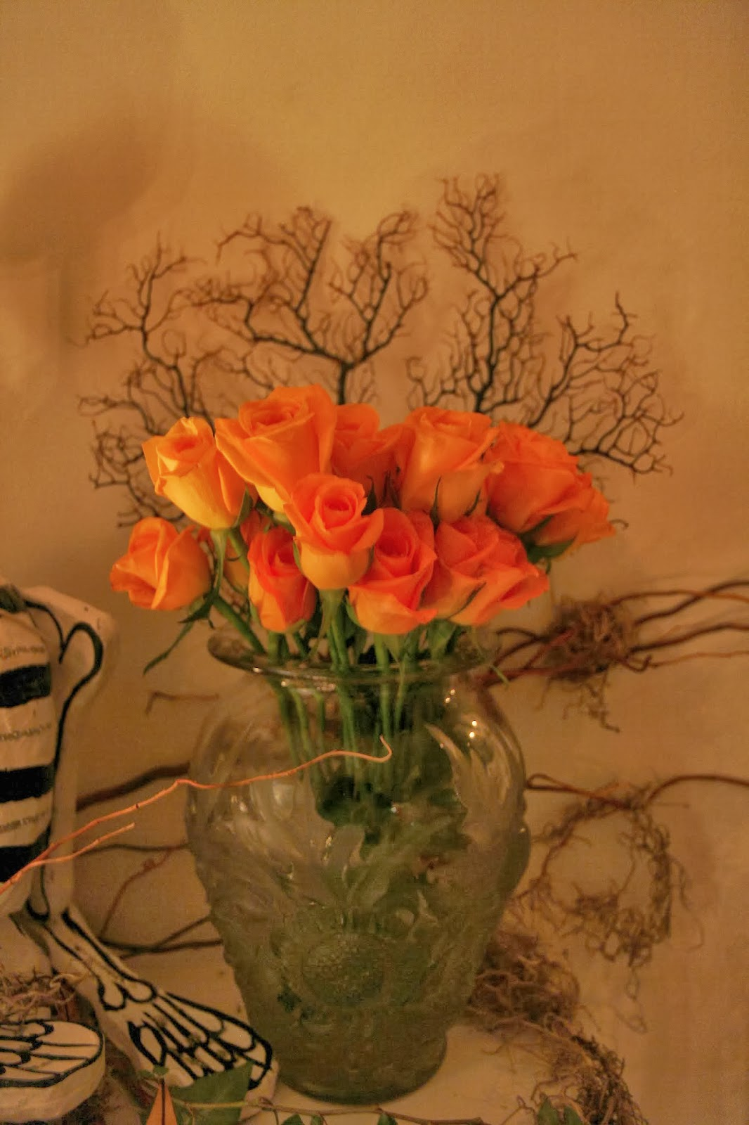 Spooky Glam Halloween Party - Orange Roses