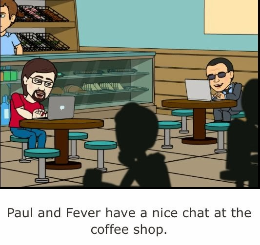 Paul and Fever is having a Nice Chat about Rolex in StarDucks