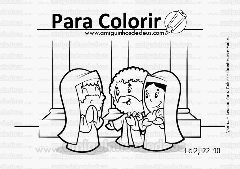 a purificação no templo desenho para colorir