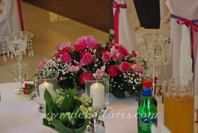 dekoracje weselne Turawa Hotel Zielony amarant i turkus