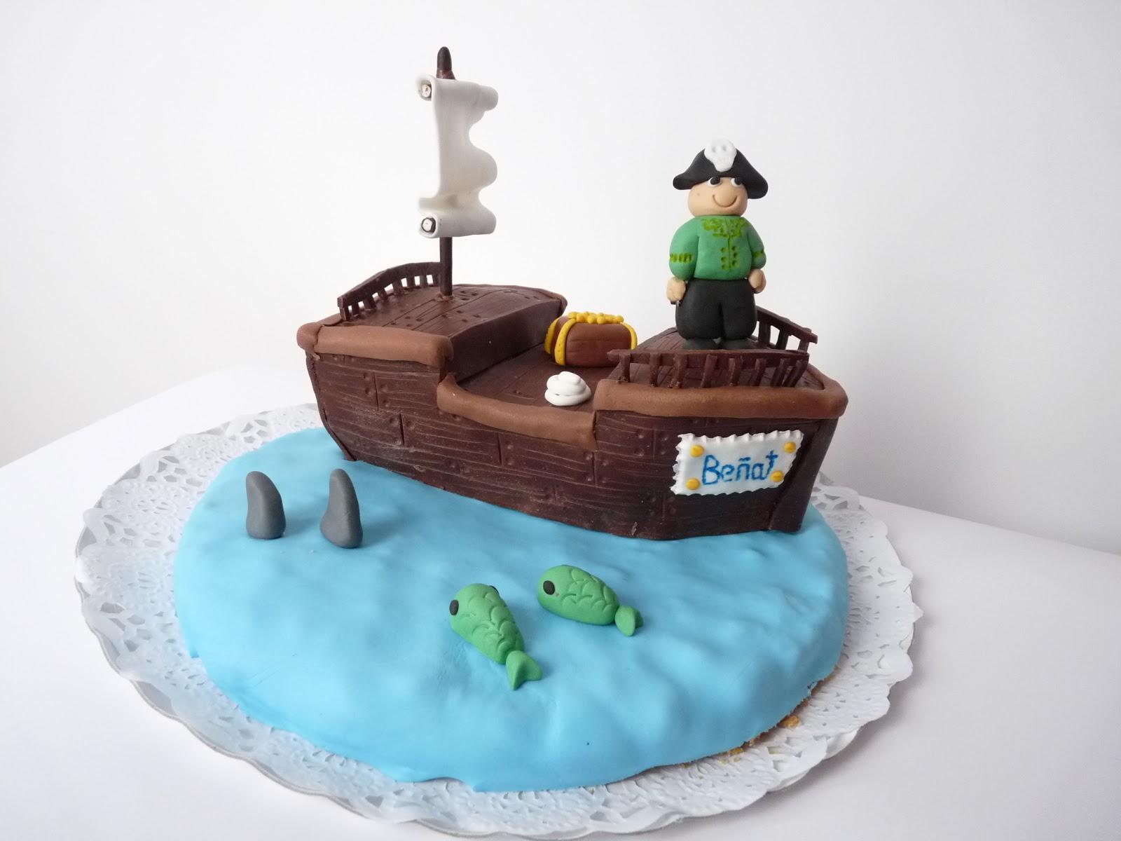 Patriland: Tutorial tarta barco pirata